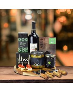 The Daventry Cheese & Wine Gift Basket