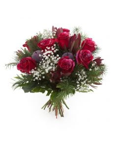 Frosted Flowers Christmas Bouquet