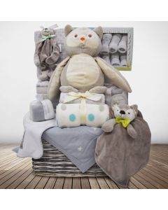 Woodland Critters Baby Basket