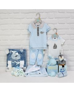 GIFT SET WITH MULTIPLE GIFTS FOR THE BABY BOY