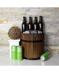 St. Patrick's Day Beer Barrel Gift Basket