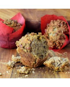 Banana With Pecan Crumble Muffins
