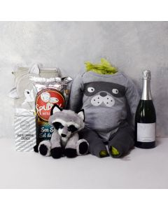 Cheers to Baby Boy Gift Basket with Champagne
