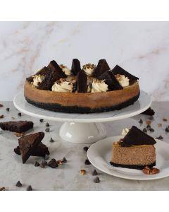 Large Caramel Pecan Fudge Cheesecake