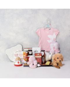 Baby Girl's First Gift Basket