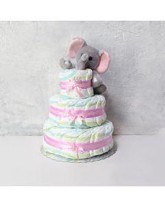 Diaper Cake with Elephant