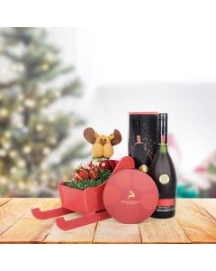 Bubbly & Holiday Reindeer Gift Set