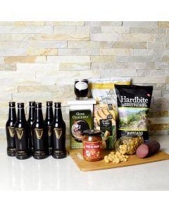 Premium Beer & Crunch Gift Basket