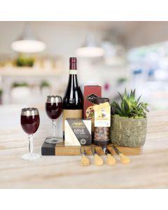 Exotic Succulent & Wine Gift Set Succulent & Wine Gift Set