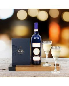 Kosher Wine & Chocolate for Two Gift Set