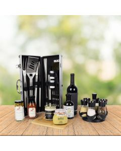 World's Best Barbequing Gift Basket with Wine