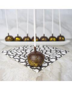 Chocolate & Gold Cake Pops