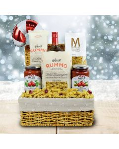 Pasta Extravaganza Christmas Liquor Gift Basket