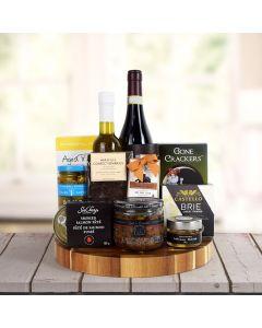 Gourmet Grandeur Wine Gift Basket