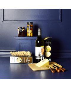 Elegant Kosher Wine & Cheese Basket