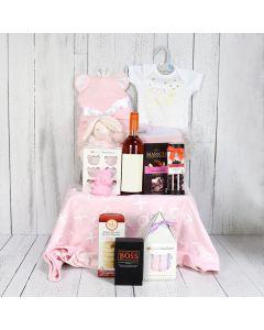 Lavish Baby Girl Gift Basket