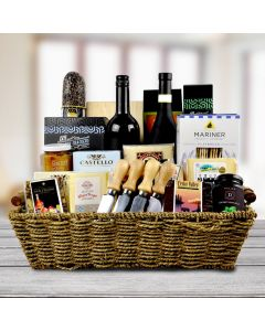 Fifth Avenue Wine & Cheese Gift Basket