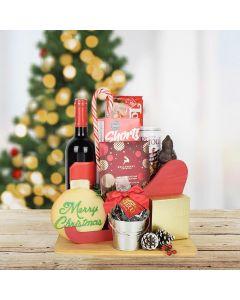 Santa's Sleigh of Treats & Wine