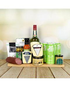 St. Patrick's Day Beer & Liquor Snacking Basket