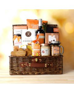 Thanksgiving Wine & Treats Basket