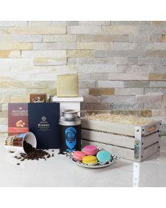 Coffee Break Macaron & Chocolate Gift Crate