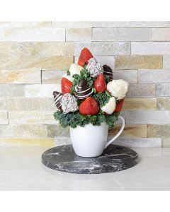 Mug of Chocolate Dipped Strawberries
