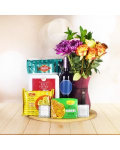 MOUTHWATERING DIWALI GIFT BASKET WITH WINE