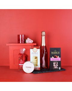 Sweet Champagne Valentine's Gift Basket