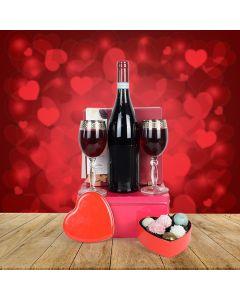 Wine & Chocolate Valentine's Day Gift Basket