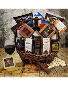 The Perugia Snack & Wine Gift Basket