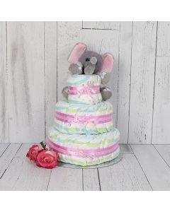 Little Elephant & Diaper Cake