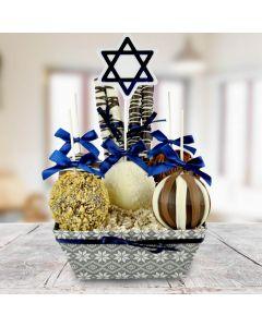 Happy Hanukkah Chocolate Apple Basket