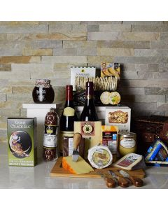 NYC's Finest Wine & Cheese Gift Basket