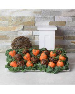 Chocolate Dipped Strawberries Halloween Platter