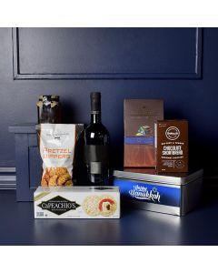 Happy Hanukkah Wine & Treats Gift Set
