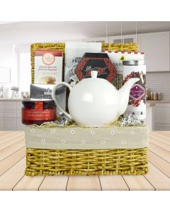 A Tea & Snack Fantasy Gourmet Gift Basket