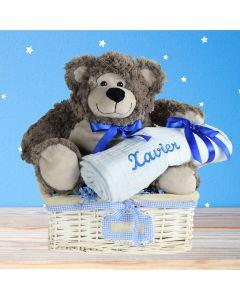 Celebrating A Beautiful Baby Boy Gift Basket