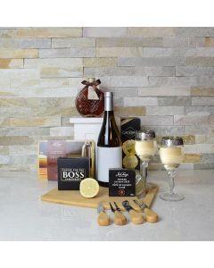 Ultimate Smoked Salmon & Wine Gift Basket
