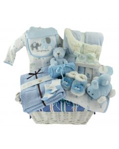 Luxurious Baby Boy Gift Basket