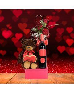 Wine & Roses Valentine's Day Basket