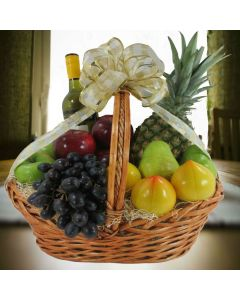 Wine & Fruit Kosher Gift Basket
