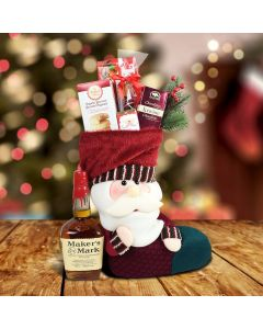 Santa's Stocking Gift Set With Liquor
