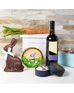 Easter Wine & Chocolate Gift Basket