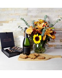 Thanksgiving Champagne & Sweets Gift Set