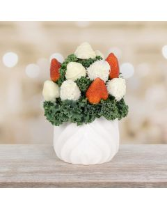 Chocolate Dipped Strawberries in a Pot