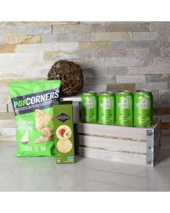 St. Patrick's Day Beer & Snacks Gift Crate