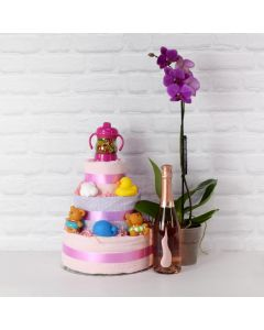 BABY GIRL'S LUXURY FUN SET WITH CHAMPAGNE