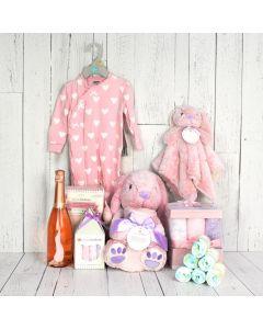 Baby Girl Celebration Basket