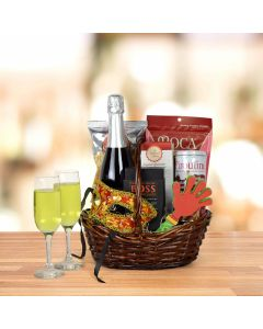 """""""Purim Some More Champagne"""" Gift Basket"""