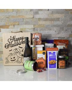 Halloween Spooktacular Gift Crate With Wine